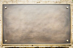 Old black sign. Old blank sign at an office in vienna - nice background with space for text Royalty Free Stock Images