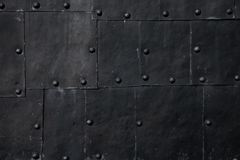 Texture of grungy metal sheets with rivets stock images