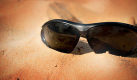Old black sunglasses Royalty Free Stock Image