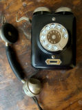 Old black telephone Royalty Free Stock Photos