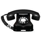 Old black telephone against white Royalty Free Stock Photography