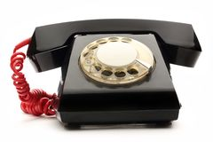 Old black telephone Stock Photo