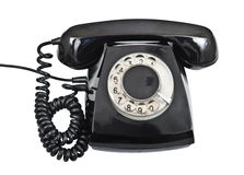 Old black telephone isolated Stock Photos