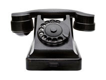 Old black telephone Royalty Free Stock Images