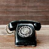 Old black telephone Stock Photography