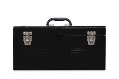 Old black toolbox Royalty Free Stock Photography