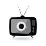 Old black tv art  Stock Image