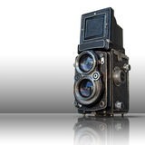 Old black twin lens camera Royalty Free Stock Image