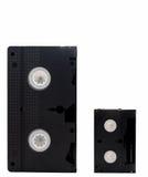 Old black video tape Stock Photo