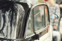 Old black vintage car Stock Photo