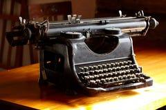Old black vintage typewriter Stock Images