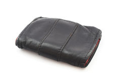 Old black wallet Royalty Free Stock Image