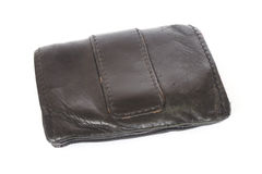 Old black wallet Stock Photo