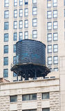 Old Black Water Tank on Chicago Building Stock Image