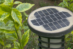 Old black and white solar powered with lanterns Stock Photo