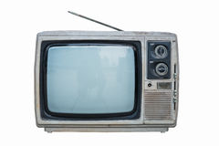 Old black and white television Stock Images
