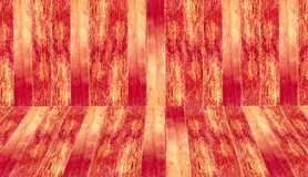 Old black and white timber wood texture. Red wooden room as a background Stock Photos