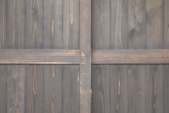 Old black wood door Stock Photos
