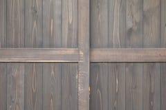 Old black wood door Stock Photos