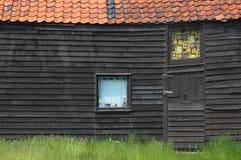 Old Black Wooden Building Exterior Stock Photos
