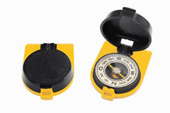 Old black yellow compass Stock Image