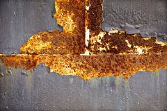 Old black and yellow metal wall Stock Photography