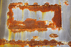Old black and yellow metal wall Stock Images