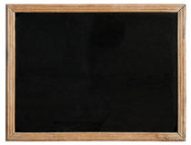 An old blackboard. An old blackboard with a wooden frame, isolated on a white background Stock Photography