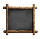 Old blackboard or chalkboard with wooden frame isolated Royalty Free Stock Photography