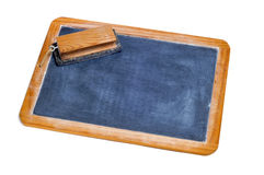 Old blackboard and eraser Royalty Free Stock Images