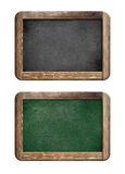 Old blackboards set with wooden frame Royalty Free Stock Photo