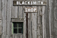 Old Blacksmith Shop building Royalty Free Stock Image