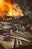 Old blacksmith tools Stock Photography