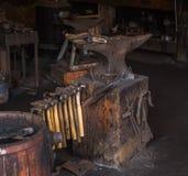 Old blacksmith tools Stock Image