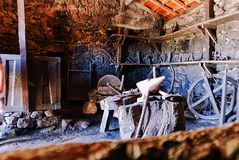 Old town blacksmith stock images