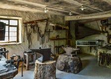 Old blacksmith workshop Stock Images
