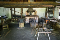 Old blacksmith workshop Stock Images