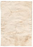 Old blank antique paper on white background Stock Images