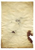 Old blank antique paper on white background Royalty Free Stock Photo