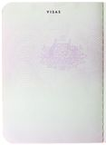Blank Australian passport page Stock Photo