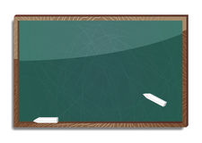 Old blank blackboard Stock Images