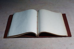 Old blank book disclosed Royalty Free Stock Photos