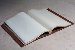 Old blank book disclosed Royalty Free Stock Photo