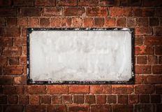 Old Blank British Street Sign royalty free stock images