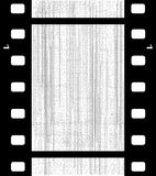 Old Blank Film Frame. A strip of blank film with grain and damage Royalty Free Stock Photography