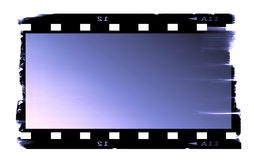Old blank film strip. Isolated on white Royalty Free Stock Photography