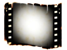 Old blank film strip isolated Stock Photos