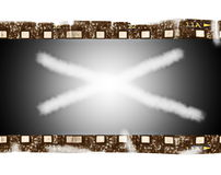 Old blank film strip isolated. On white background Stock Photo