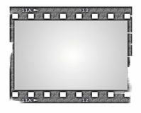 Old blank film strip isolated on white Royalty Free Stock Photos