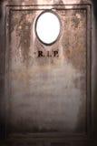 Old blank gravestone Stock Image